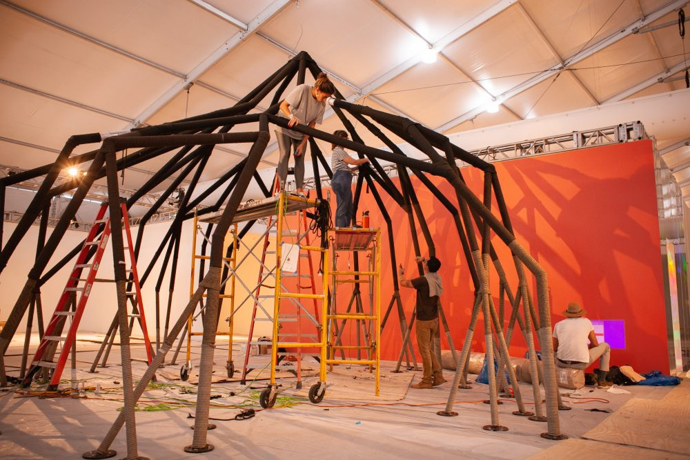 Construction of The Roots Installation